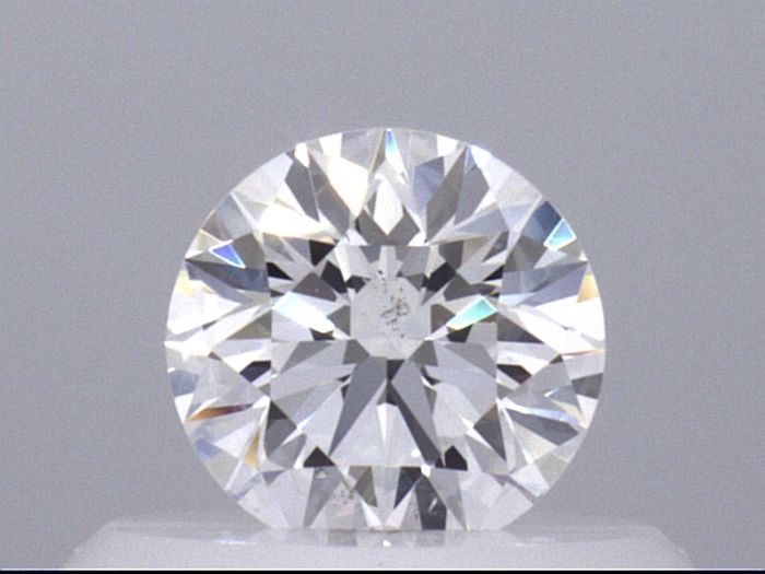 1 pcs Diamant - 0.38 ct - Rond - D (incolore) - SI1  VG EX EX GIA Certified * No Reserve Price *