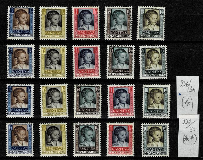 Luxemburg 1930 - Four sets of the Children - Michel 213/217