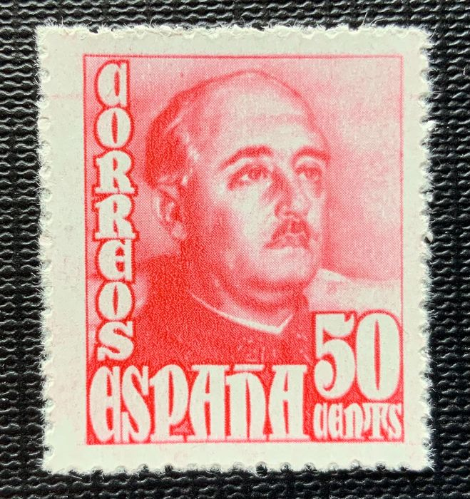 Spanje 1948/1954 - Colour error in the General Franco 50 cts stamp