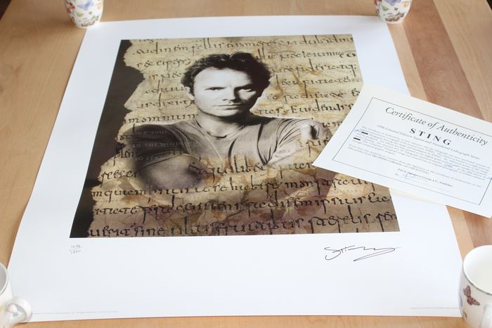 Sting - Hand-Signed Limited Edition Lithograph - Originale Lithographie - 1996/1996