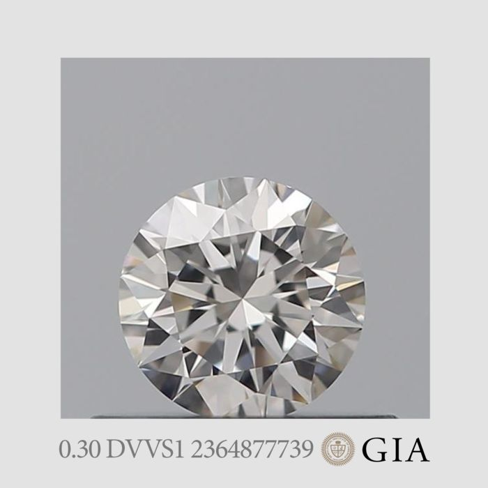 1 pcs Diamante - 0.30 ct - Brillante - D (incoloro) - VVS1, *No Minimum Price*