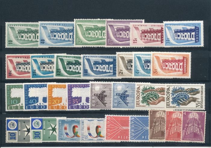Europe 1956/1984 - CEPT 1956-1984, without the block issues, 29 different years
