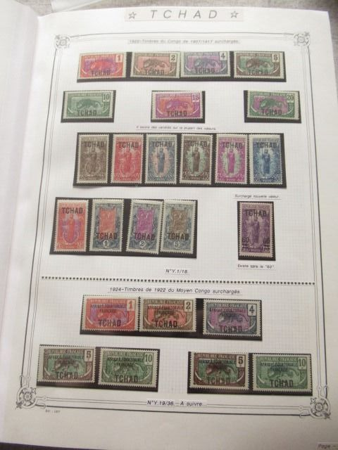 Voormalige Franse koloniën - Africa, pre- and post-independence, advanced collection of stamps.