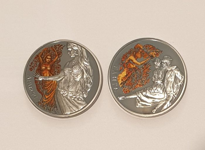 Bélarus. 20 Roubles 2011 + 2012 - Proof Commemorative (2 different types)