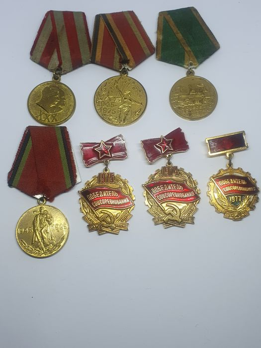 Russia - Collection of Russian  badge Emblem Pin USSR - Badge, Medal - 1946