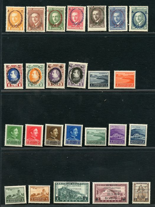 Albanien 1900/1920 - Several sets of the early period