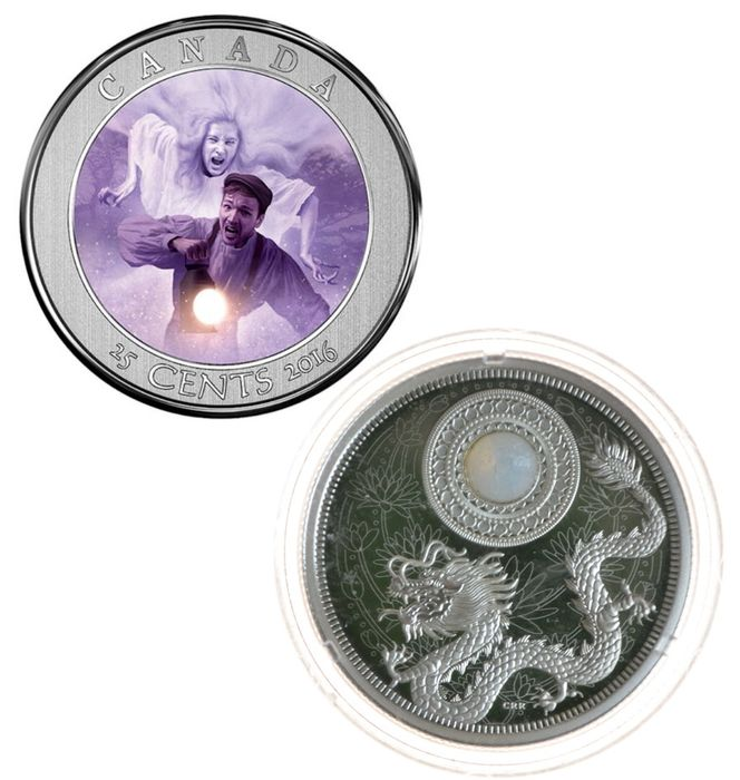 Canada. 25 Cents + 5 Dollars 2016 silver Proof Commemorative (2 pieces)