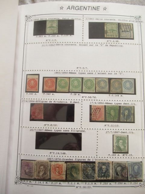 Argentinien 1858/1981 - Advanced collection of stamps, including airmail.