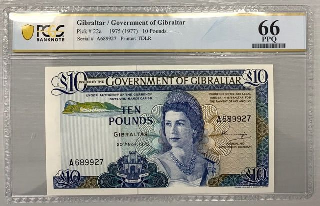 Gibraltar - 10 Pounds 1975 - Pick 22a