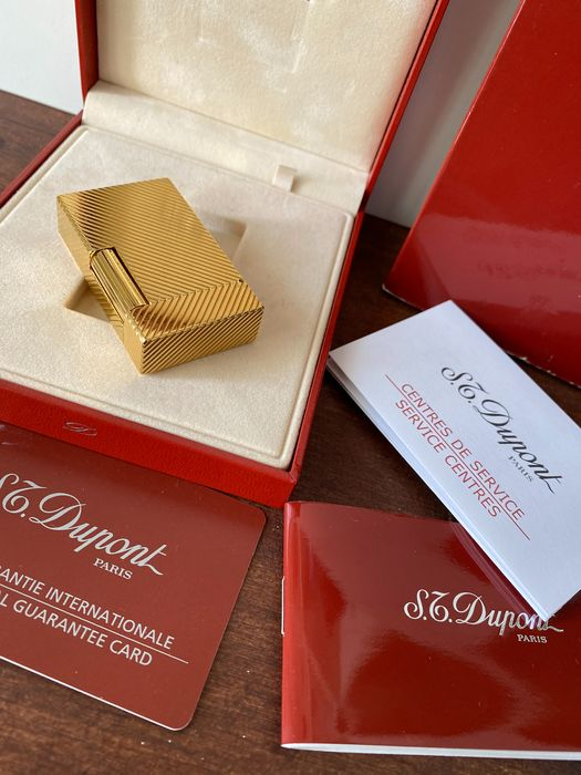 S.T. Dupont - Gold Plated with Box and Documentation - Aansteker