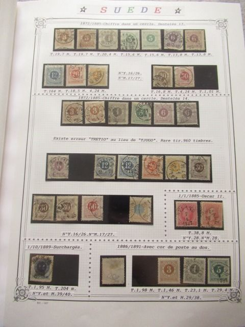 Schweden 1872/2011 - An important collection of stamps