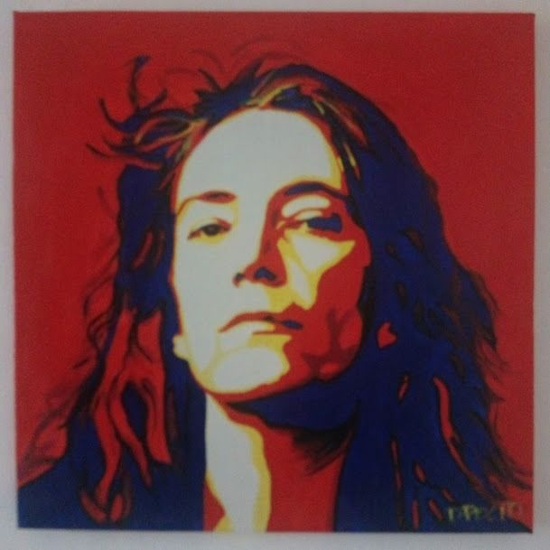 Patti Smith - Patty Smith by Daniela Politi - Kunstwerk/ Gemälde - 2021/2021