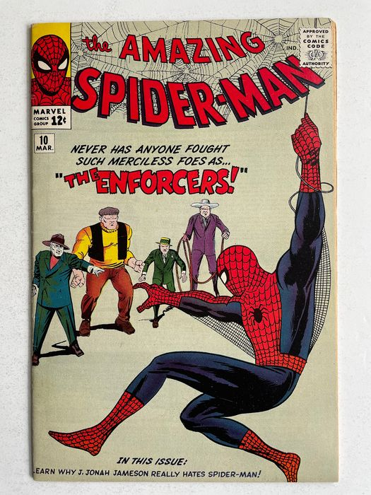 The Amazing Spider-Man #10 - 1st Appearance Of The Big Man And The Enforcers - Very High Grade!! - Broché - EO - (1964)