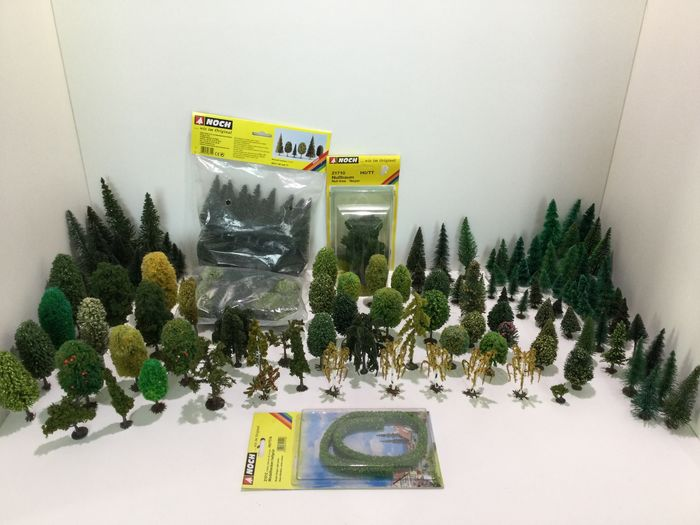 Noch H0 - 21512/21710/26311 - Scenery - Beautiful lot of trees / hedges