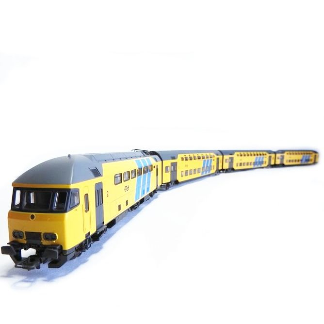 Rivarossi H0 - HR4138 - Train unit - 4-piece MDDM double-decker set, with 6-axle motor car and steering position - NS