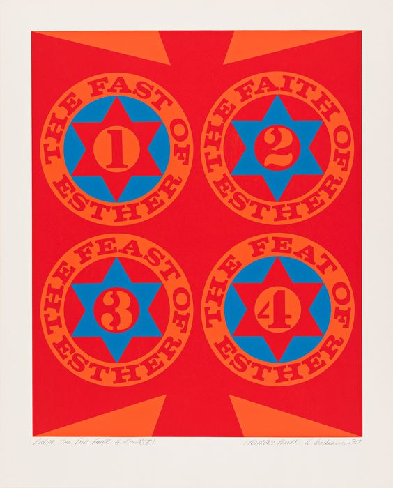 Robert Indiana (1928-2018) - The Four Facets of Esther I