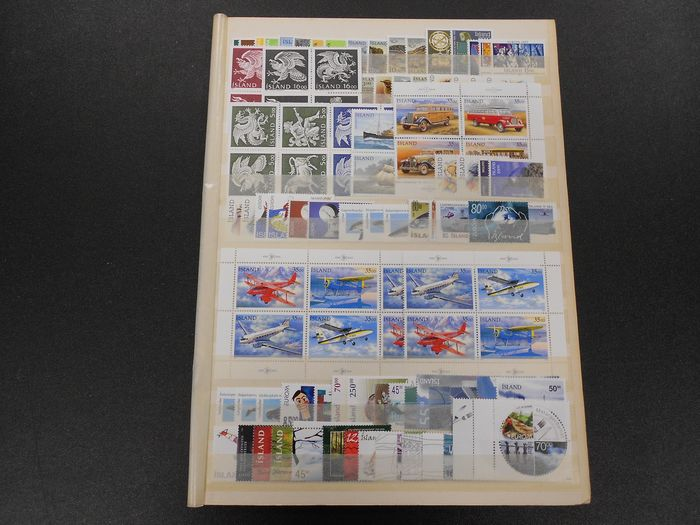 Islande - Collection on stock sheets with many modern issues - Yvert