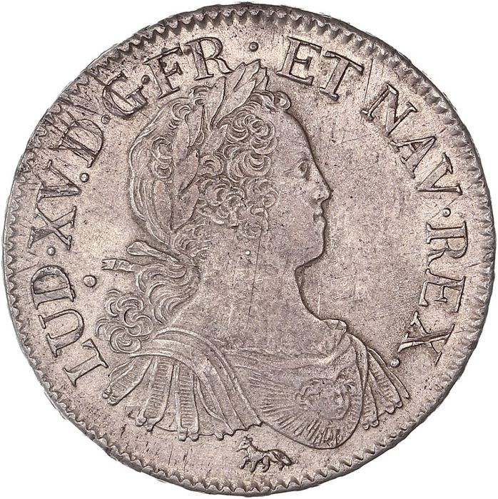 France. Louis XV (1715-1774). Ecu 1725-A, Paris
