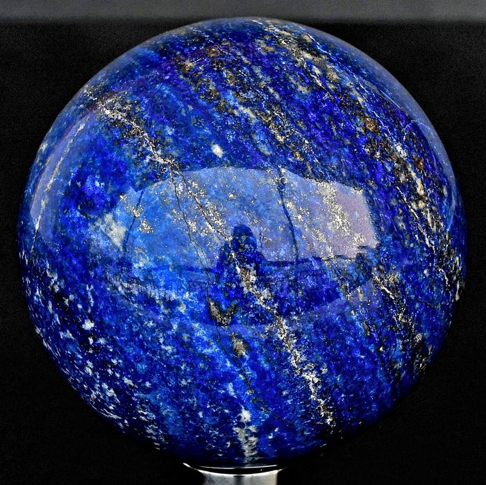 First quality deep blue Lapis Lazuli and Pyrite sphere - 8.8×8.8×8.8 cm - 1075 g