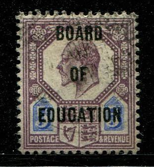 Großbritannien 1904 - 5 pence dull purple and ultramarine Board Of Education - Stanley Gibbons O86