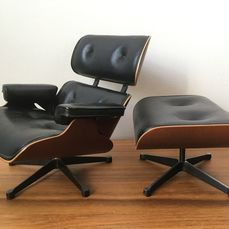 Charles Eames, Ray Eames - Vitra - Musée du design Vitra - Collection miniature (2) - Eames Lounge Chair en Ottoman