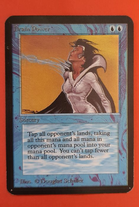 Magic the gathering - Trading card Drain Power uit Alpha - 1993