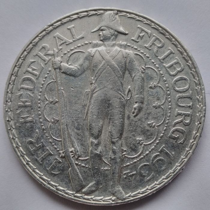 Suiza. 5 Francs 1934 'Federal Festival in Fribourg'