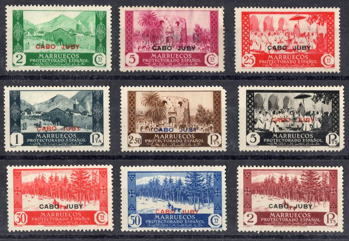 Cape Juby 1935/1936 - Stamps from Morocco - Edifil 67-84