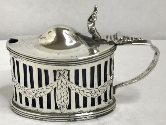 Pot à moutarde anglais Chester Silver - Argent 925 - Angleterre - 1900