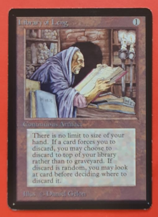 Magic the gathering - Trading card Library of Leng uit Beta