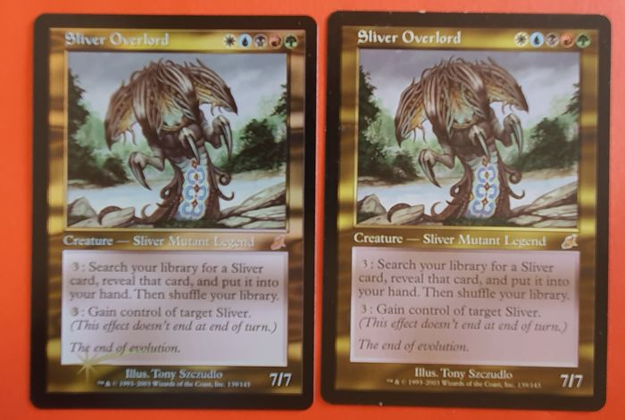 Magic the Gathering - Trading card Sliver Overlord + Sliver Overlord (foil) uit Scourge - 2003