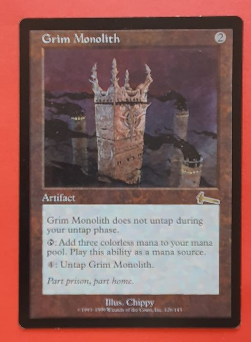 Magic the Gathering - Trading card Grim Monolith uit Urza's Legacy - 1999