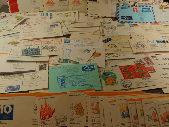 World - Huge lot of international first flight and aviation covers