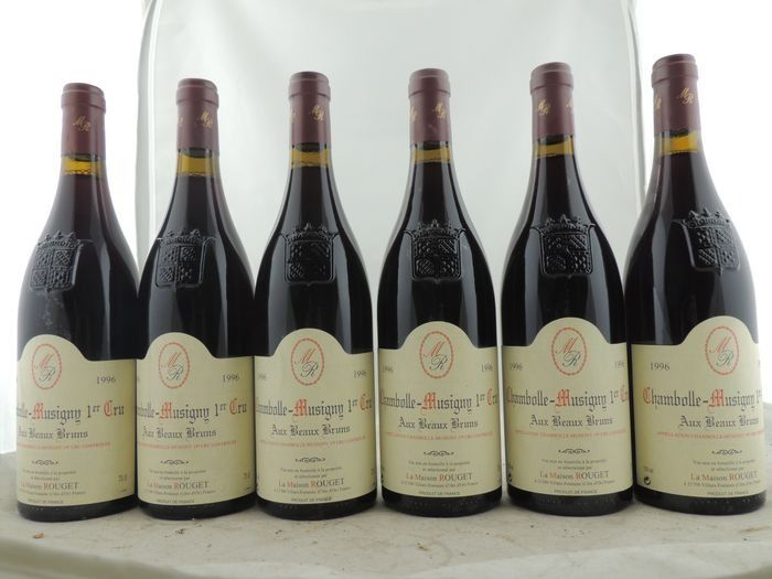 1996 Chambolle-Musigny 1° Cru Aux Beaux Bruns - Maison Rouget - Chambolle Musigny - 6 Normalflasche (0,75 Liter)