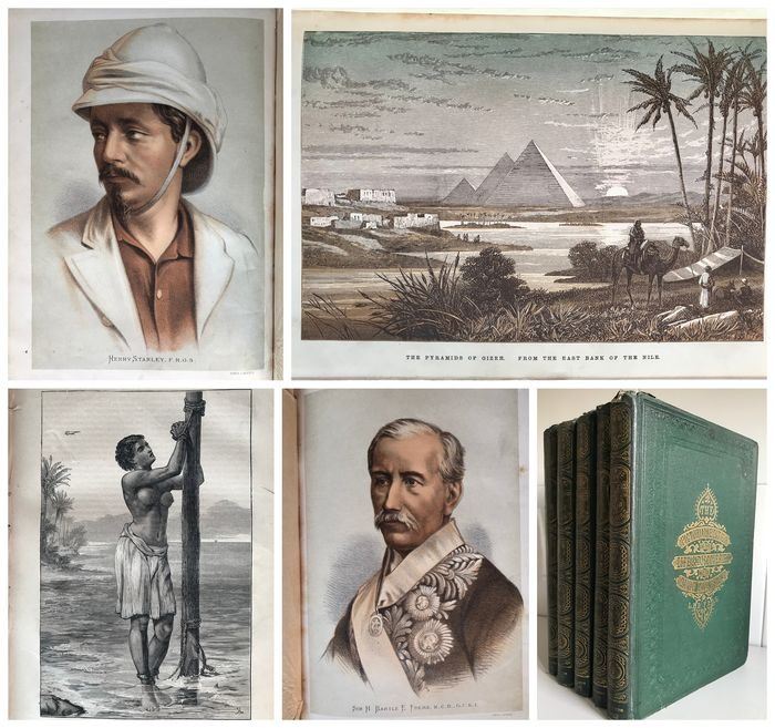 J.  Ewing Richie - The Pictorial Edition of the Life & Discoveries of David Livingstone Volumes 1-5 - 1880
