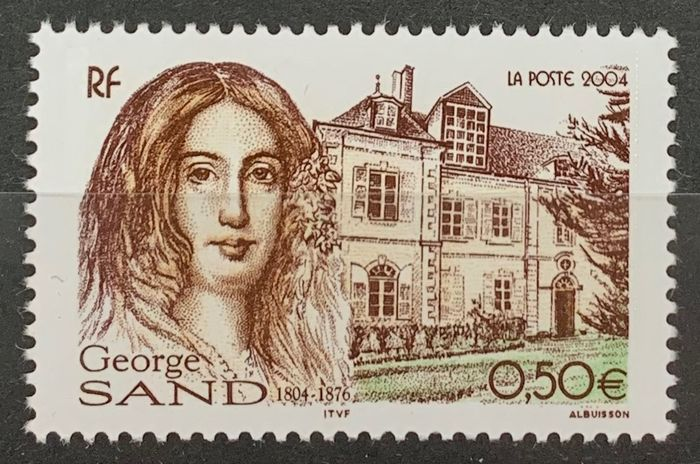 Francia 2004 - George Sand variety with purple colour omitted, signed R. Calves, VF - Yvert 3645a