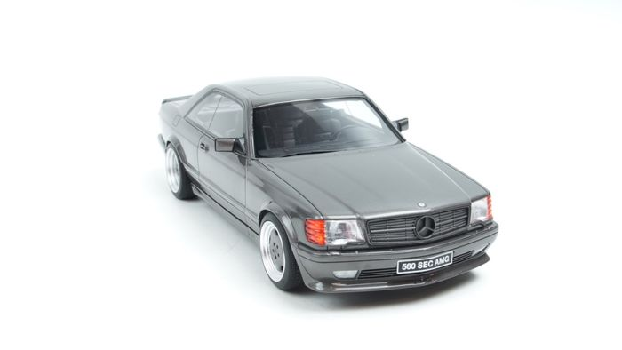 Otto Mobile - 1:18 - Otto Mobile Mercedes-Benz C126 AMG 1987 Anthracite Grey - Limited edition 1 of 2000