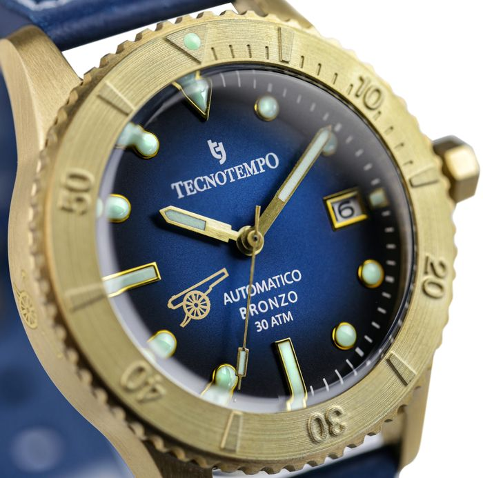 """Tecnotempo - """"NO RESERVE PRICE"""" 300 Meters WR Bronze Age Cannon Limited Edition - TT.300.BRB (Blue) - Heren - 2021"""