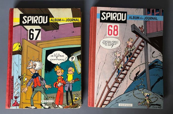 Spirou (magazine) - Album du Journal  Spirou - N° 67 + 68 - C - EO - (1958/1955)