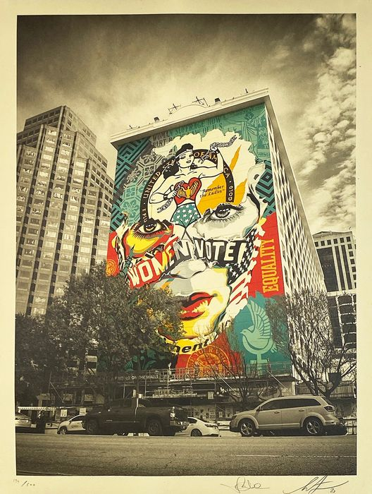 Shepard Fairey (OBEY) x Sandra Chevrier - 'The Beauty of Justice & Equality'