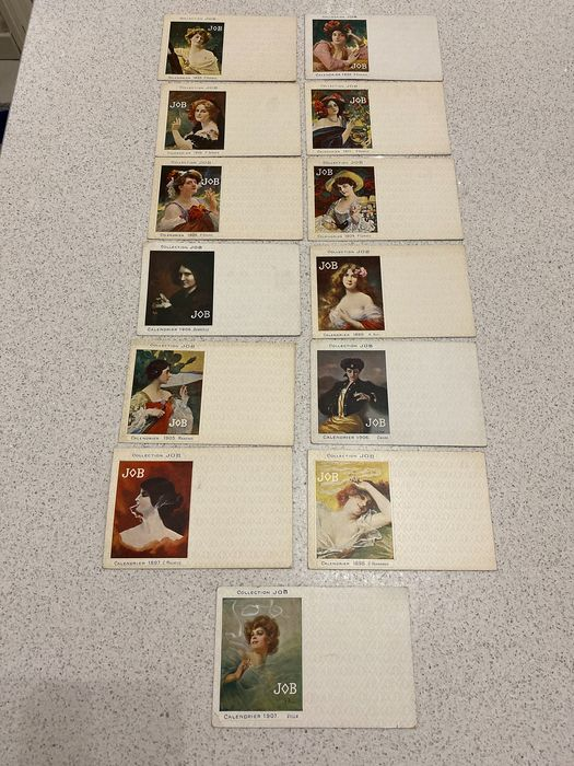 Fantasy, Job collection - Postcards (Collection of 13) - 1897