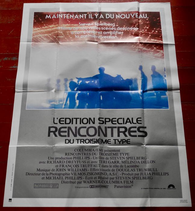 Lot of 3 - Close Encounters of the Third Kind SE (1980) / Explorers (1985) / Cocoon (1985) - Poster, Original French Cinema release - 160x120 cm