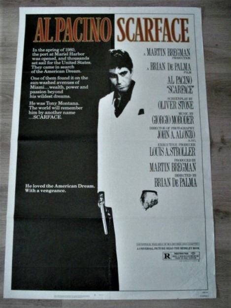 Scarface (1983) - Al Pacino - Universal Pictures - Poster, Original US Cinema release - 1 Sheet Licence NSS 830167