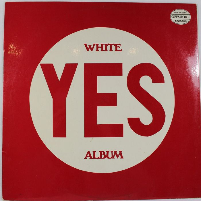 Yes - White Yes Album - LP Album - 1972/1972