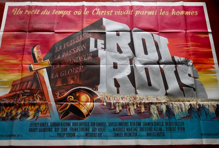 King Of Kings (1961) - Huge, very rare 1961 'double grande' - Poster, Original French Cinema release - 240x160 cm