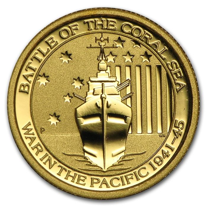 Australia. 15 Dollars 2014 Perth Mint - Battle of the Coral Sea - War in the Pacific 1941 - 1945