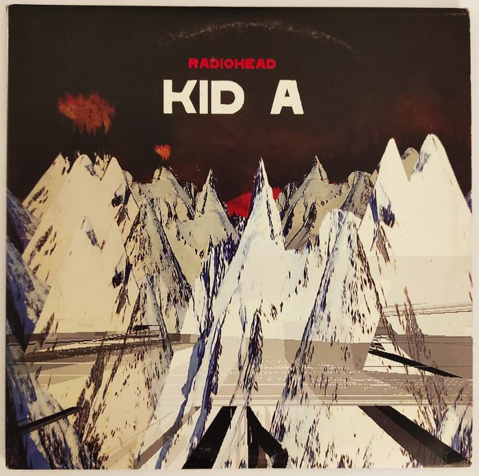 "Radiohead - Kid A [Double 10"" LP] - 2 Álbuns LP (álbum duplo) - 2000"