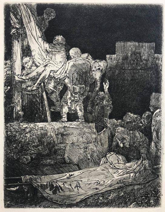 Rembrandt Van Rijn (1606-1669) - The descent from the cross by torchlight, 1654