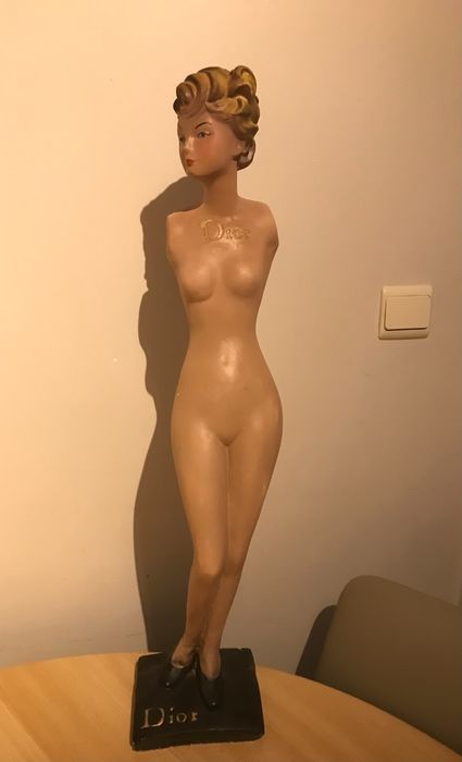 Nude mannequin advertising Christian Dior - 77cm - Gips