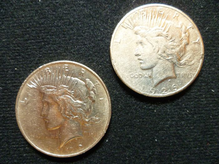 United States. Dollar (Peace) 1922 + 1926-S (2 coins)